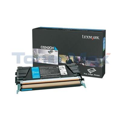 LEXMARK C524 C532 TONER CARTRIDGE CYAN 5K